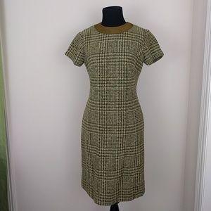 Vintage 1969s Green Wool Madmen Wiggle Dress sz sm